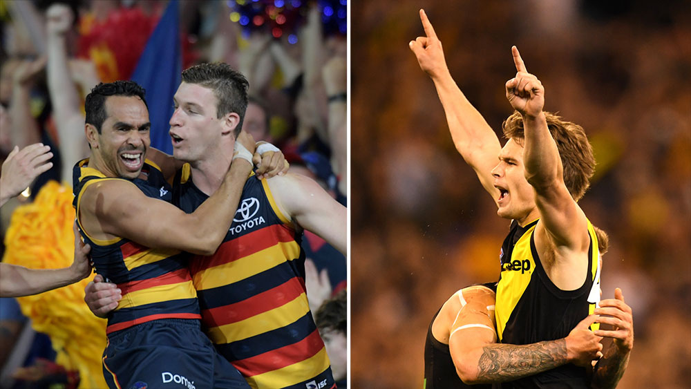 Adelaide will meet Richmond in the AFL Grand Final (AAP)