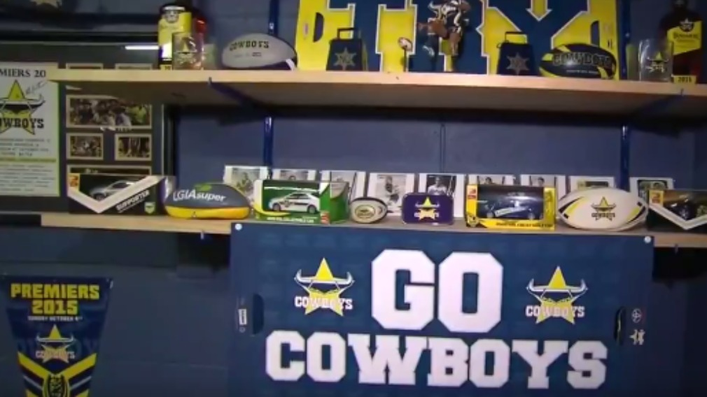 The Grand Final countdown is on for Cowboys fans in North Queensland. (9NEWS)