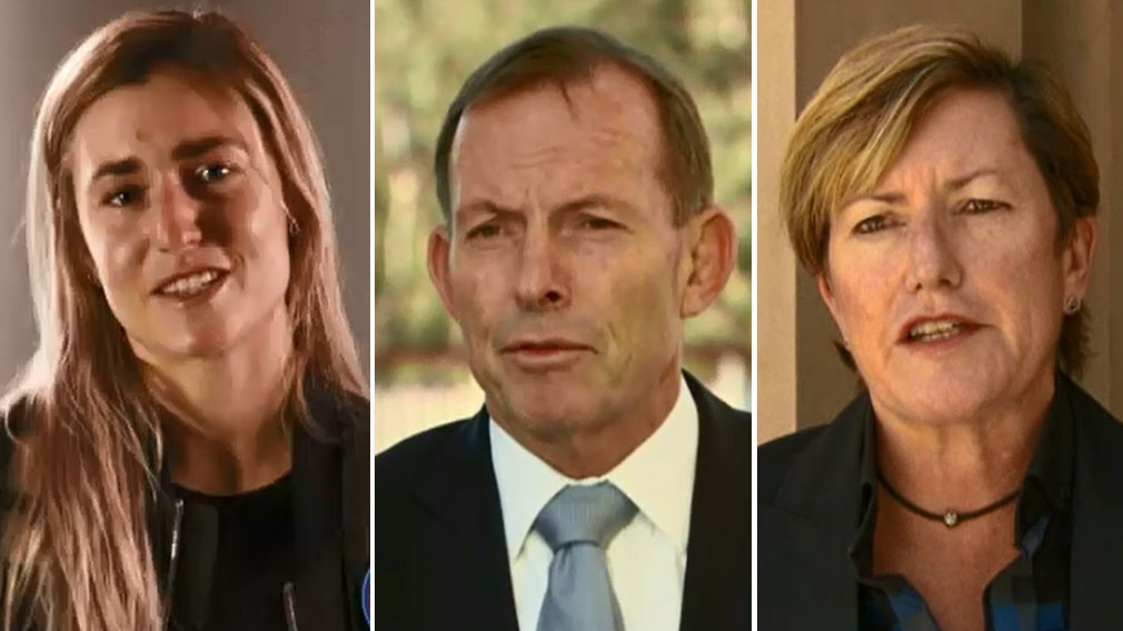 Tony Abbott's sister 'extremely proud' of niece's marriage stance