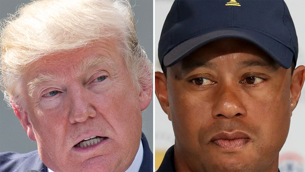 Donald Trump and Tiger Woods.