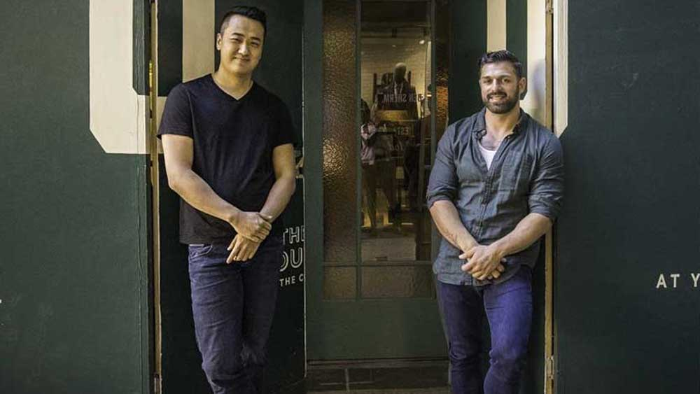 """<a href=""""https://thegrounds.com.au/"""" target=""""_top"""">The Grounds of Alexandria's</a> head of coffee Jack Hana and co-founder Ramzey Choker"""
