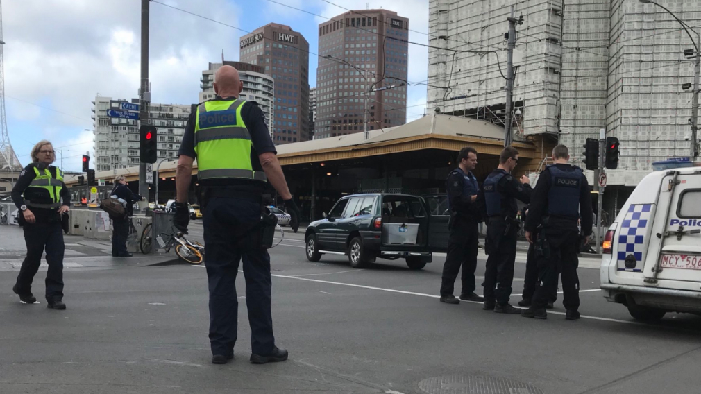 Driver Speeds Erratically Through Melbourne CBD Before Being Tackled by Police