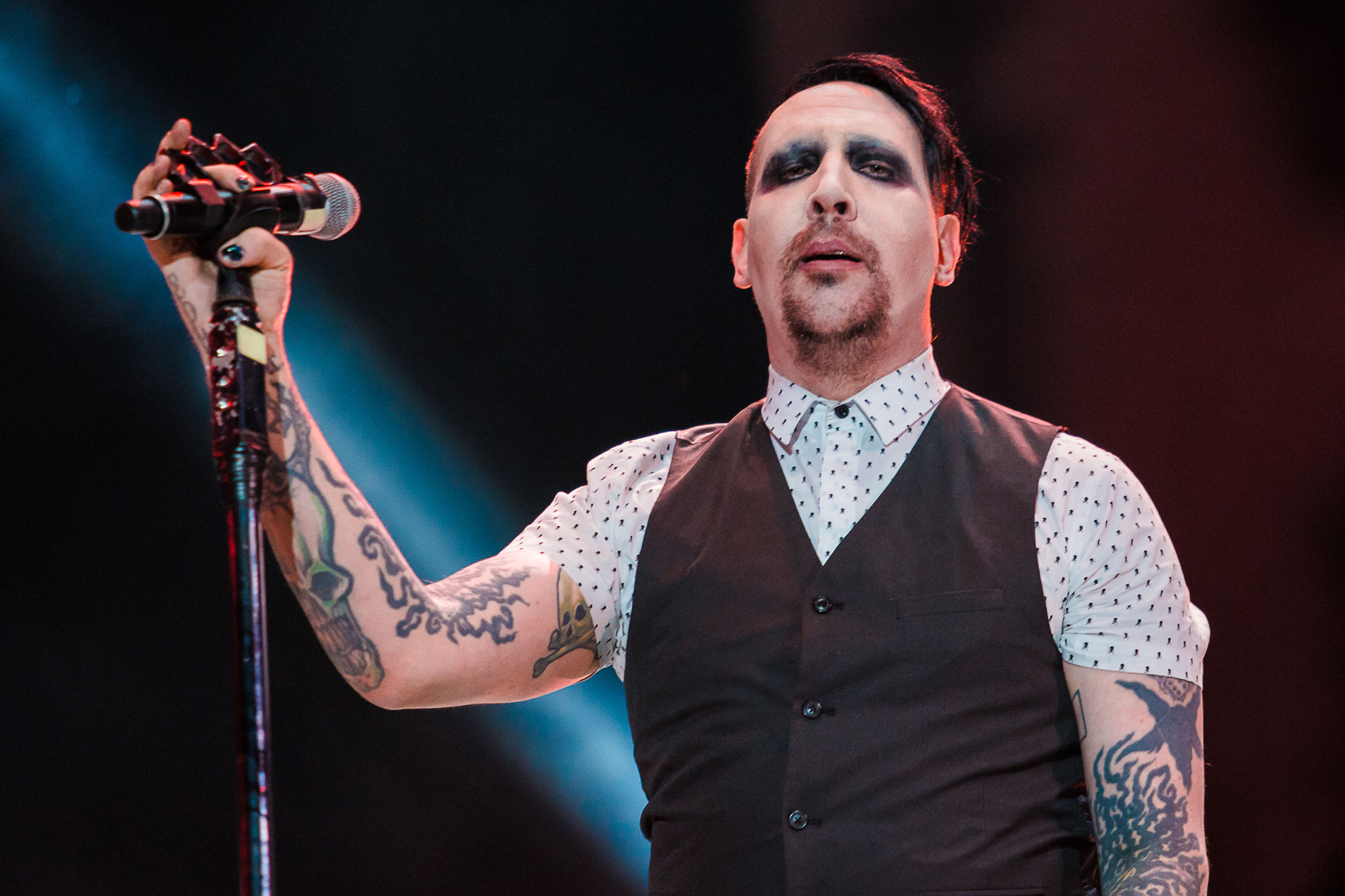 Marilyn Manson Cancels Tour Dates Following Onstage Accident