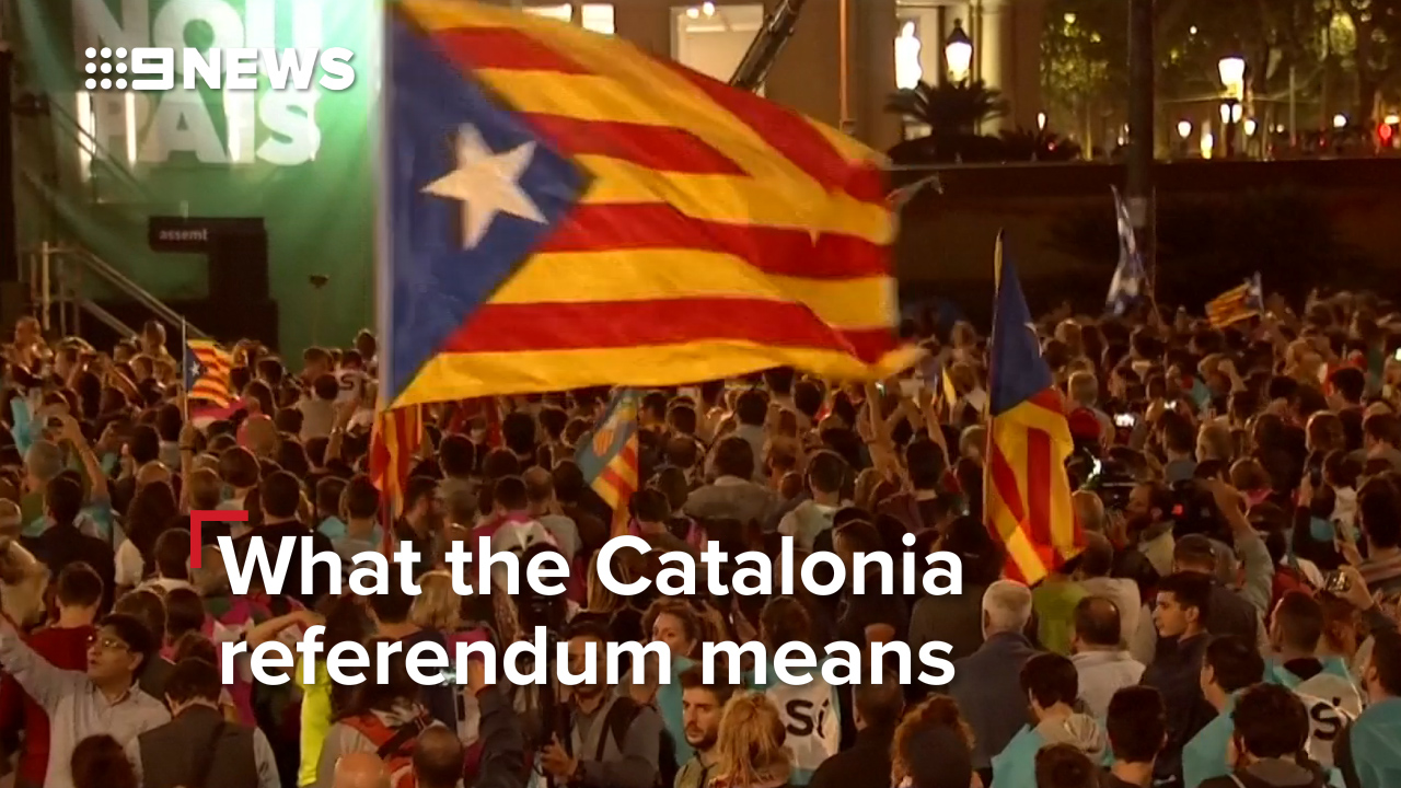 Police use rubber bullets on crowds to disrupt Catalonia independence referendum