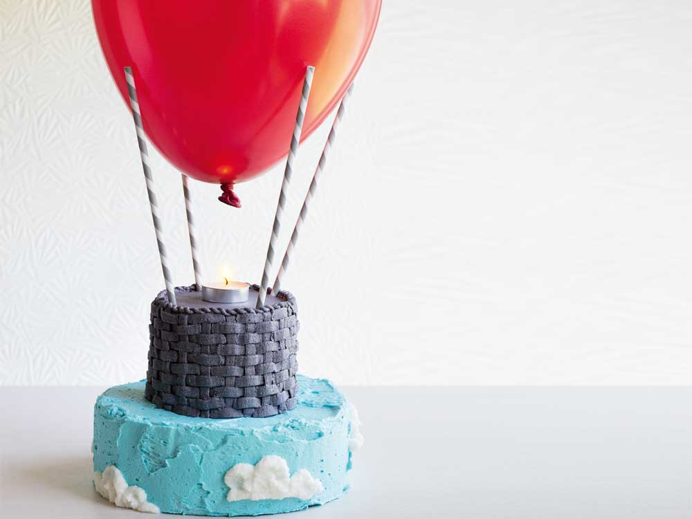 Up, up and away hot air balloon birthday cake recipe