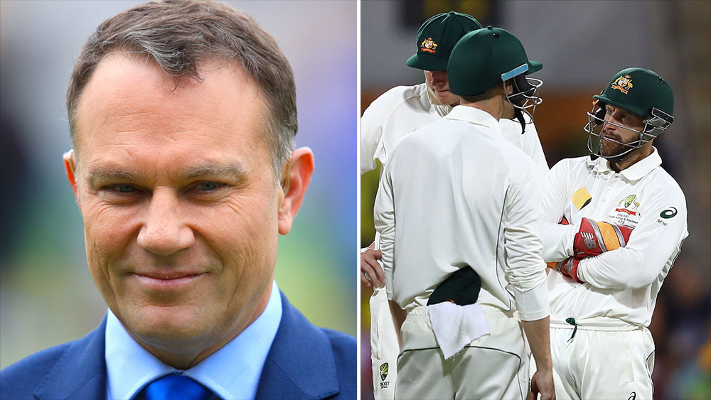 Michael Slater (left) believes Matthew Wade should be left out of the Australian side for the first Test.