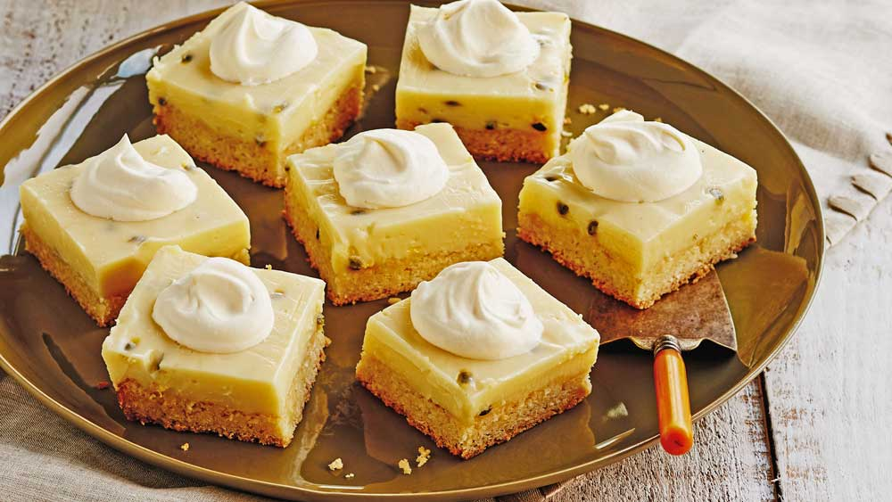 Passionfruit slice recipe