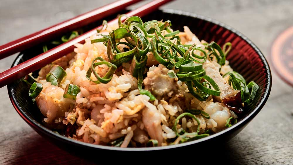 """Recipe: <a href=""""http://kitchen.nine.com.au/2017/10/18/08/29/china-diners-famous-fried-rice-with-sweet-lup-cheong-pork-sausage"""" target=""""_top"""">China Diner's famous fried rice</a>"""