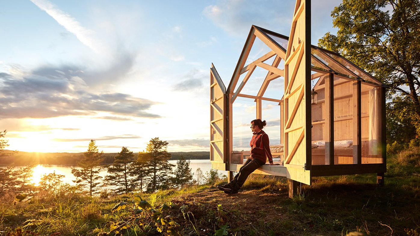 The Glass House Cabin In Georgia : The swedes want you to live in a glass cabin decrease