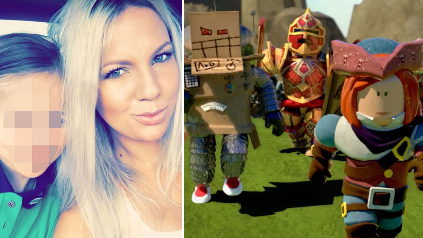 Kayla Bailey from Perth, says her nine-year-old daughter was targeted by a pedophile on Roblox.