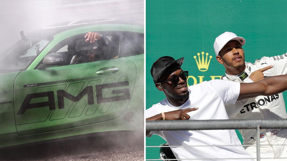 Usain Bolt and Lewis Hamilton.