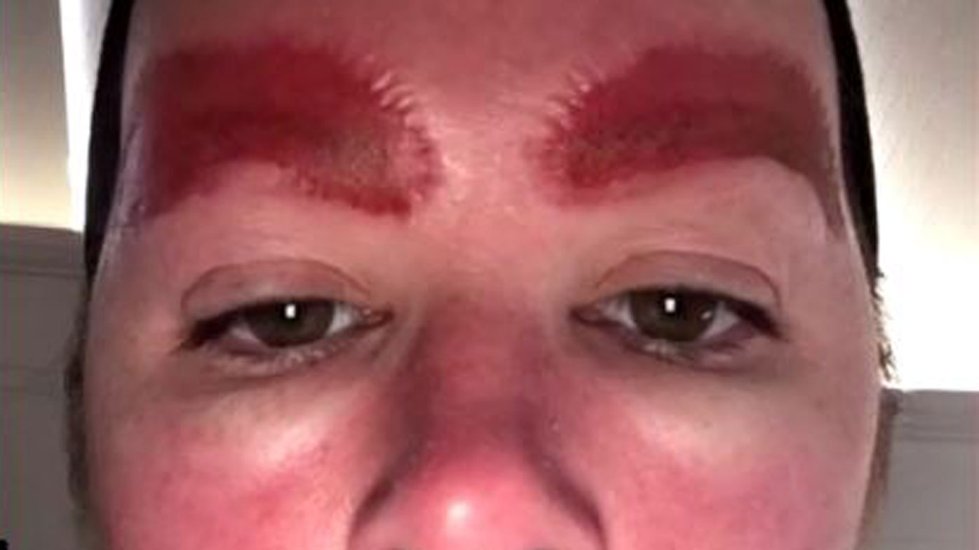 Woman warns against new cosmetic eyebrow tattooing trend for Eyebrow tattoo microblading