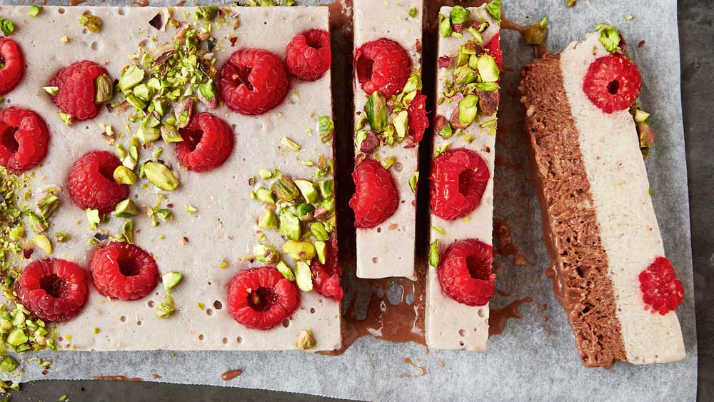 Halva ice-cream bars