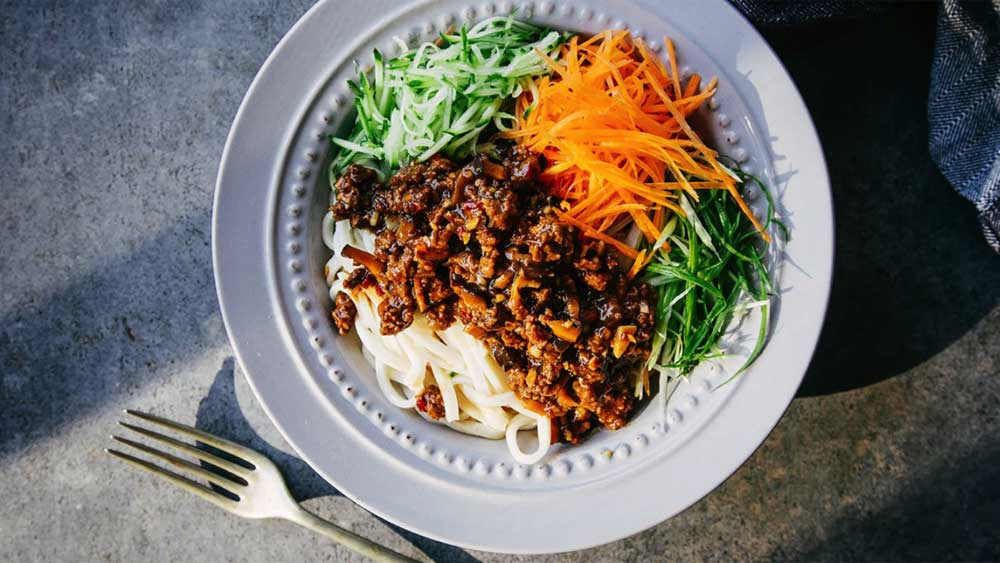 "Recipe: <a href=""http://kitchen.nine.com.au/2017/10/25/11/50/billy-laws-spicy-beef-noodle"" target=""_top"">Billy Law's spicy beef noodle (Beijing zha jiang noodle)</a>"