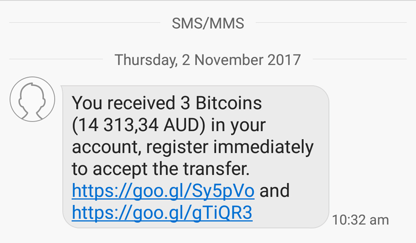 Bitcoin scam text message: How hackers are hijacking your phone for