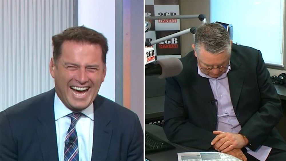 Karl Stefanovic and Ray Hadley.