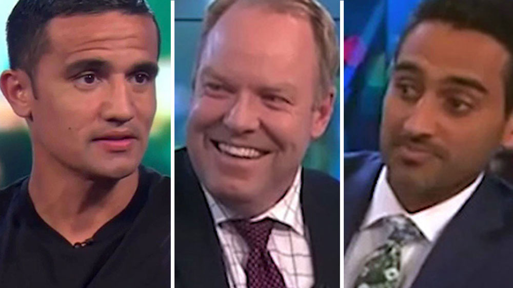 Tim Cahill, Peter Helliar and Waleed Aly.