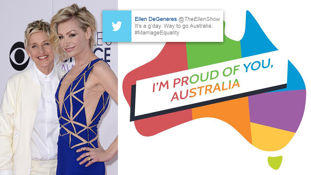 Ellen DeGeneres: 'It's a g'day. Way to go Australia'