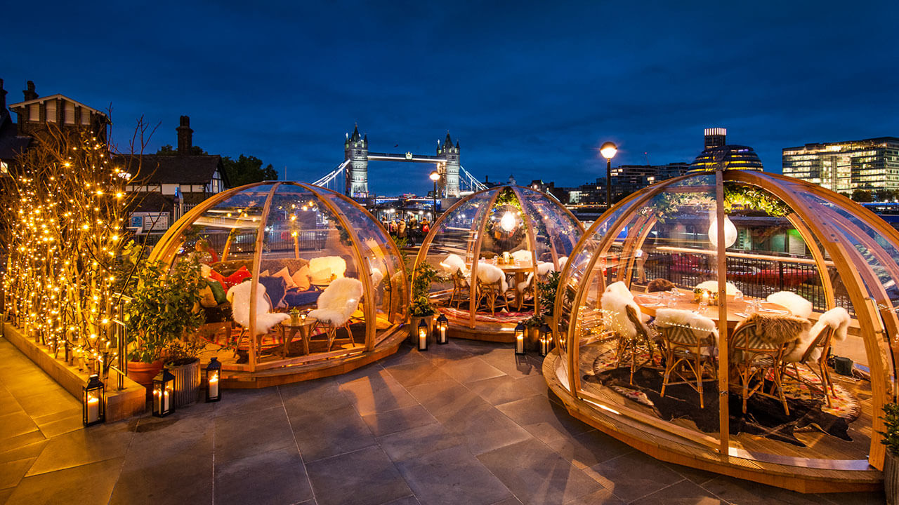 Dine In An Heated Igloo Overlooking London S Tower Bridge