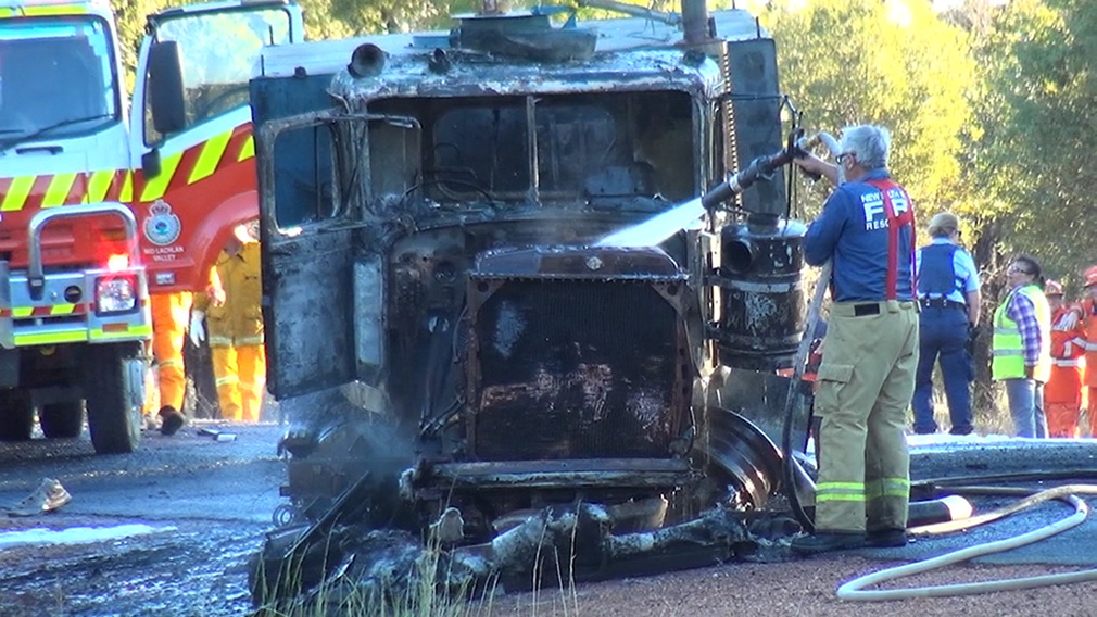Two killed, woman fighting for her life after fiery crash