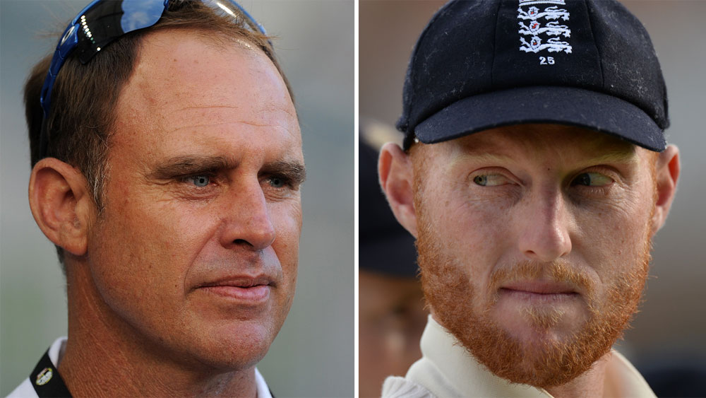 Matthew Hayden and Ben Stokes.