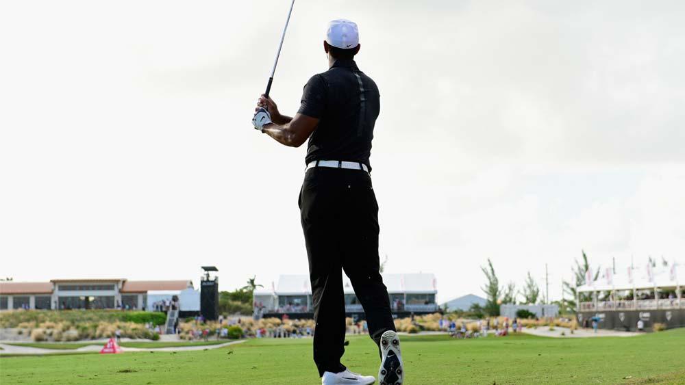 Golfer Tiger Woods returns