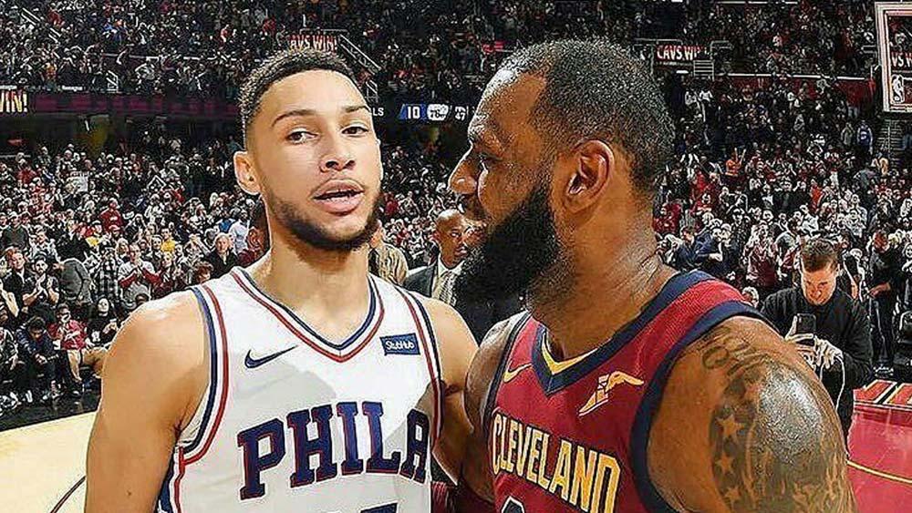 Ben Simmons and LeBron James