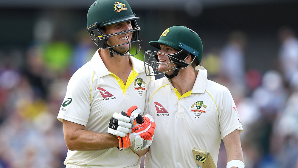 Mitchell Marsh and Steve Smith.