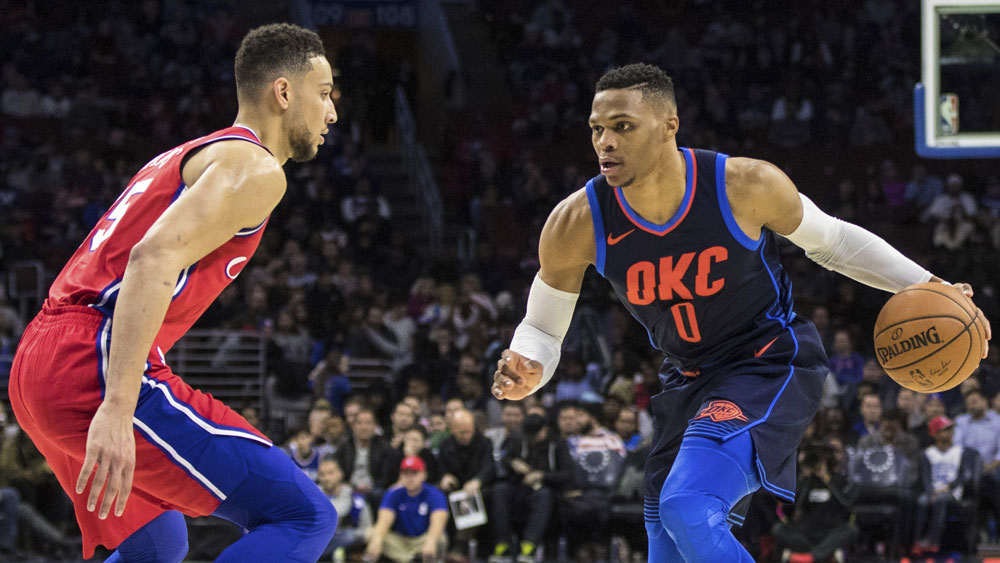Ben Simmons and Russell Westbrook.