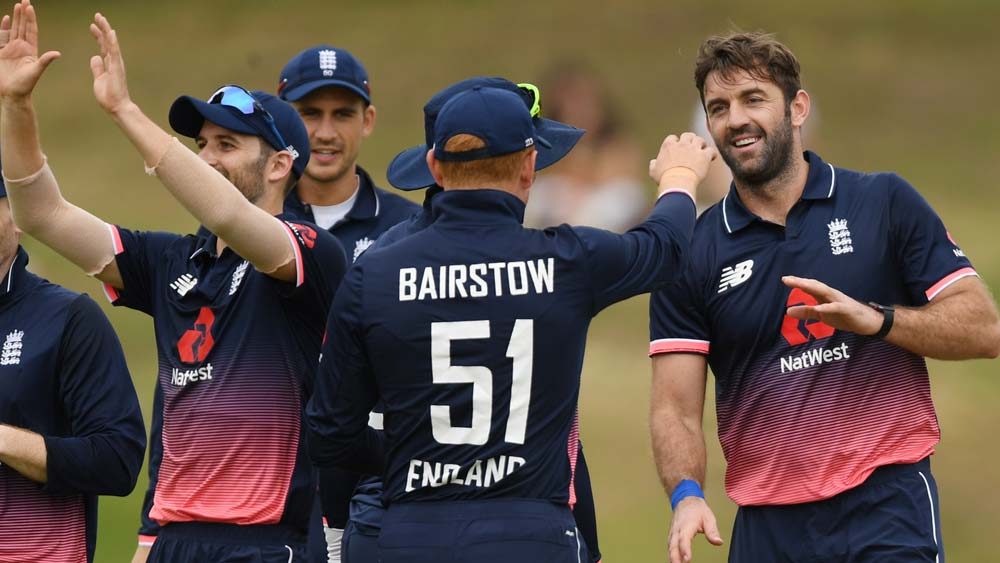 England celebrate against CA XI