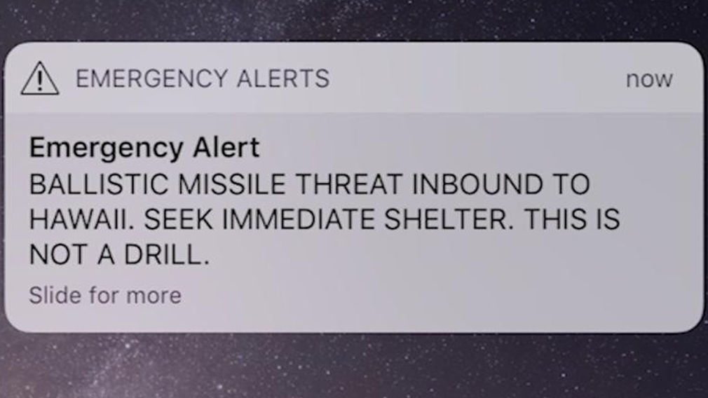 False alarm: Accidental missile alert sends Hawaii into panic