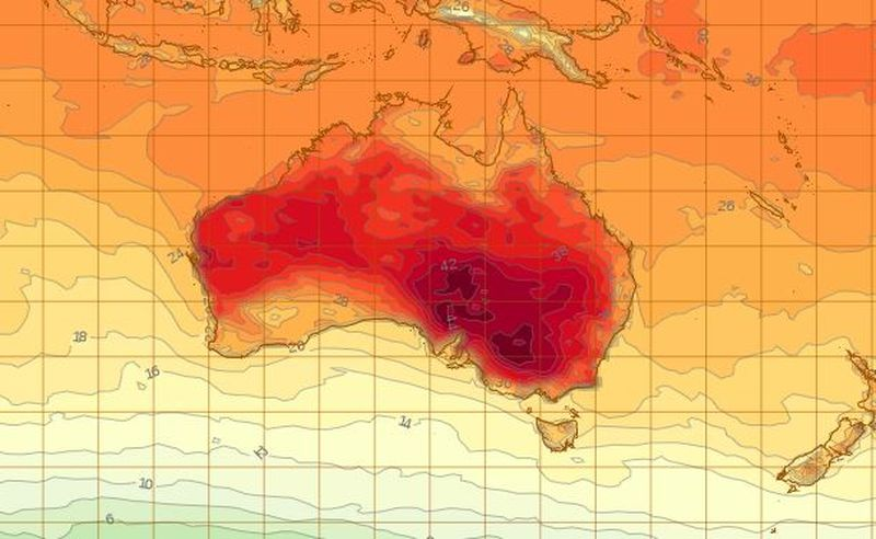 Heatwave delivers third consecutive 40C day to parts of NSW
