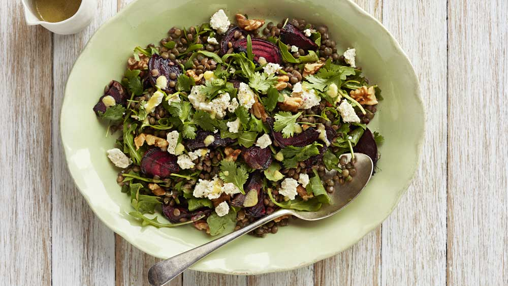 "Recipe: <a href=""https://kitchen.nine.com.au/2018/01/22/11/50/lentil-beetroot-and-feta-salad"" target=""_top"" draggable=""false"">Lentil, beetroot and feta salad</a>"