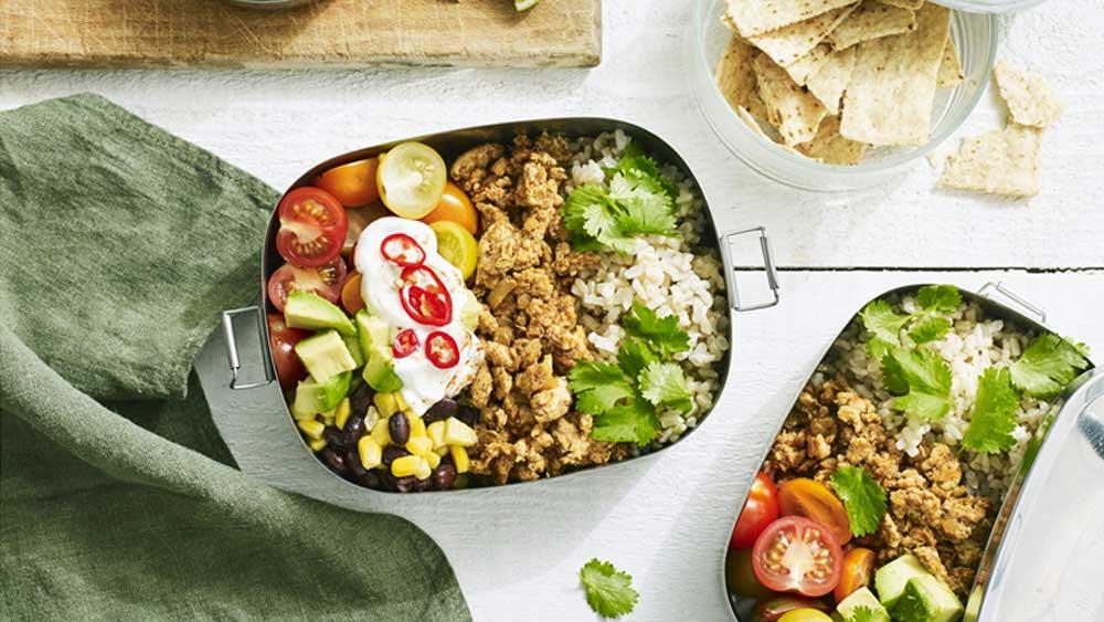 """Recipe: <a href=""""http://kitchen.nine.com.au/2018/01/23/10/42/chicken-taco-bowl"""" target=""""_top"""">Hayden Quinn's free range chicken taco bowl</a>"""
