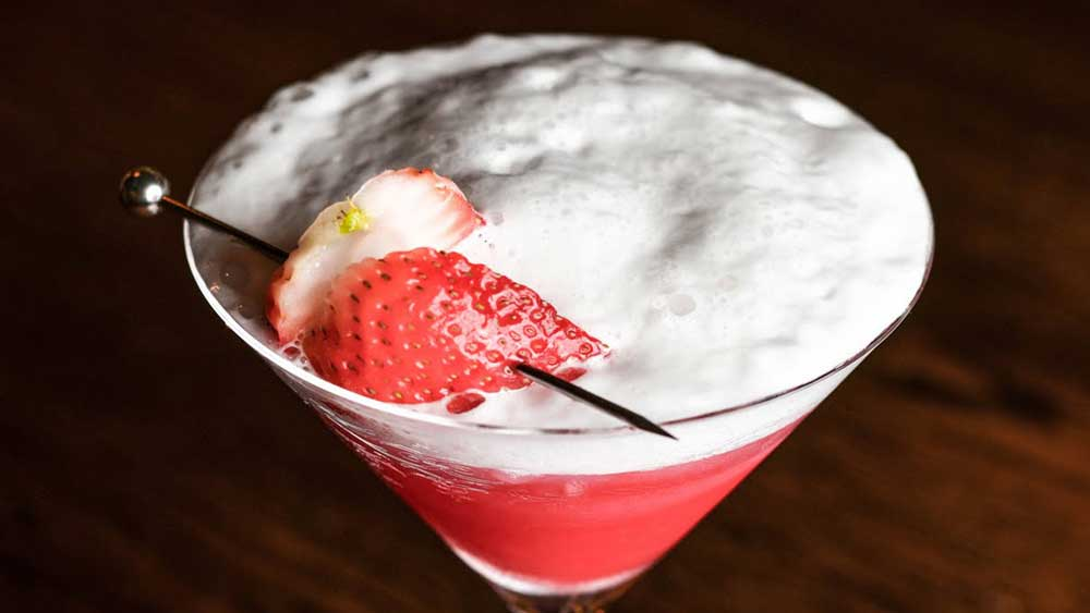 """Recipe: <a href=""""http://kitchen.nine.com.au/2018/02/13/14/42/champagne-and-strawberries-cocktail-recipe"""" target=""""_top"""">Champagne and strawberry cocktail</a>"""