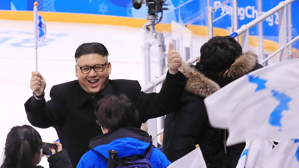 North Korean cheerleaders wowed by 'Kim Jong-Un from Australia'