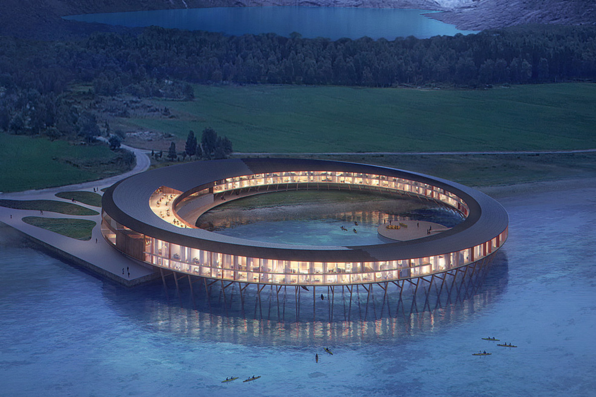 Solar For America >> 'UFO' hotel in Arctic Circle makes more energy than it ...