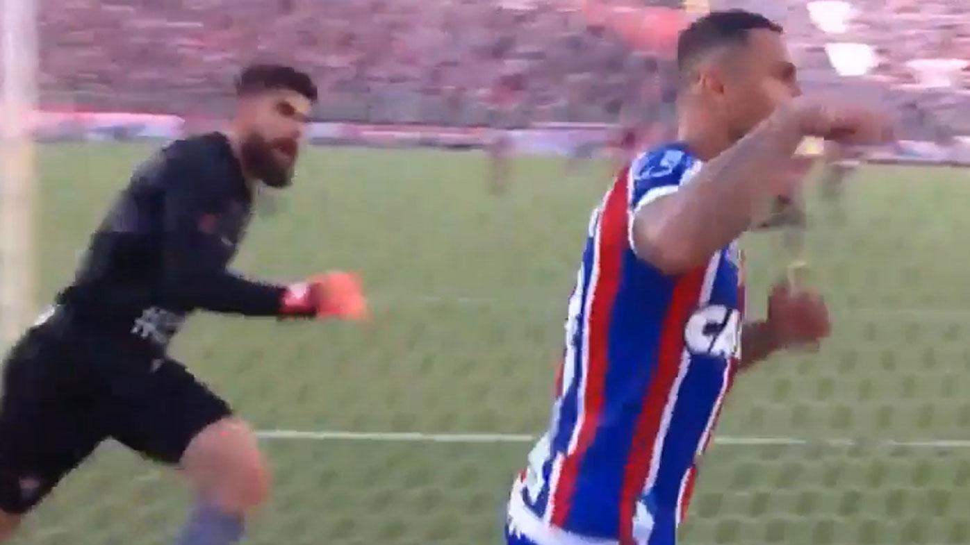 Brazilian derby punch-up