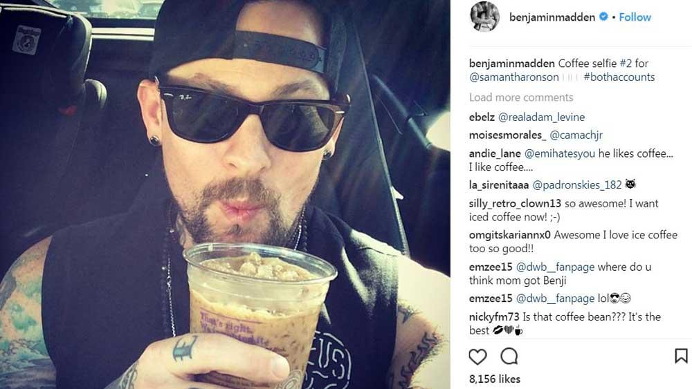 Benjamin Madden relishes his sweet Aussie coffee