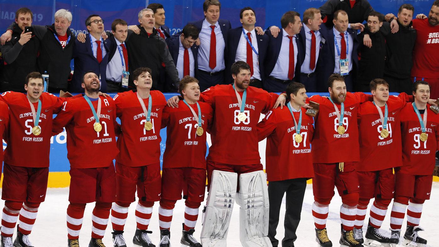 Russian ice hockey players.