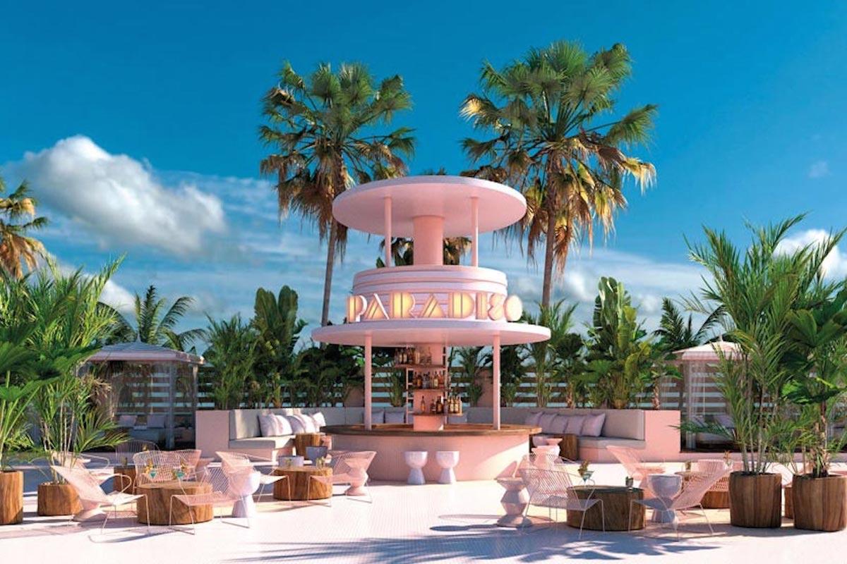 Pink Art Deco Hotel In Ibiza
