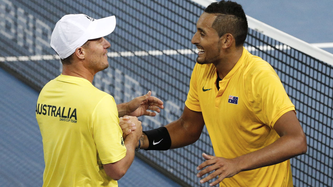 Lleyton Hewitt and Nick Kyrgios.