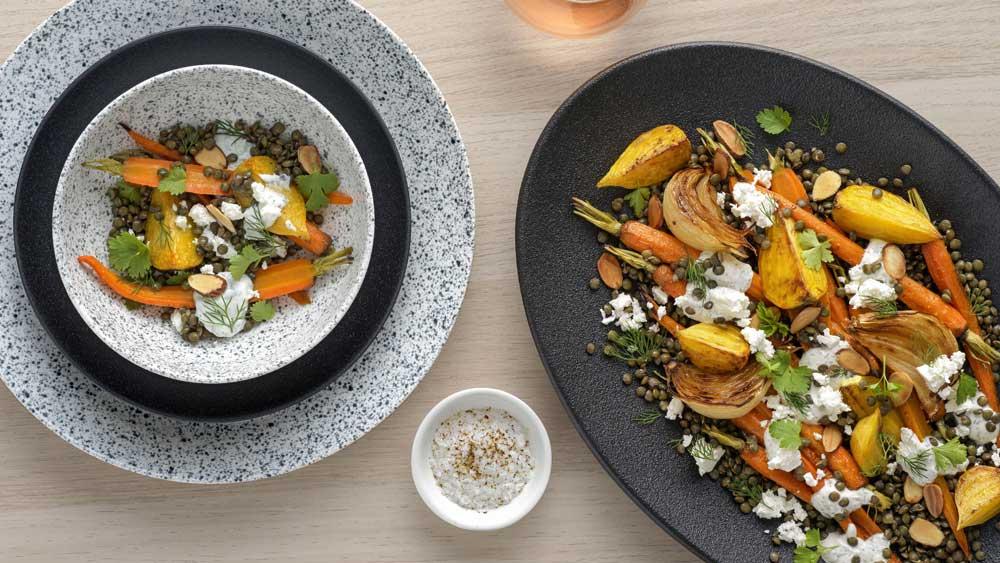 """Recipe: <a href=""""http://kitchen.nine.com.au/2018/02/28/11/55/dutch-carrot-and-lentil-salad-recipe"""" target=""""_top"""">Dutch carrot and lentil salad</a>"""