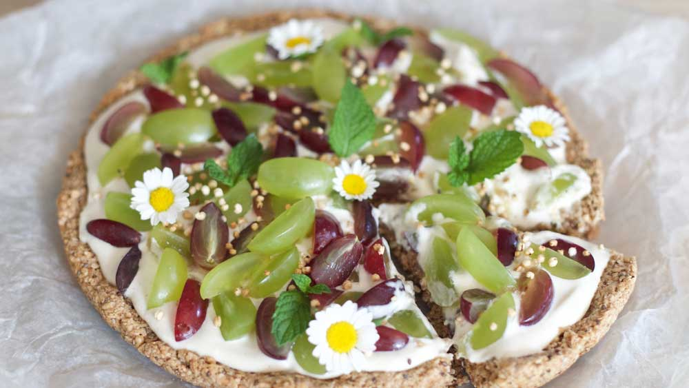 """<strong>Recipe: <a href=""""http://Grapes on pizza """" target=""""_top"""" draggable=""""false"""">Breakfast granola pizza</a></strong>"""