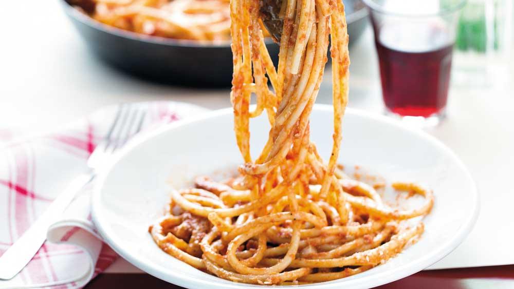 "Recipe: <a href=""http://kitchen.nine.com.au/2018/03/06/12/35/amatriciana-recipe"" target=""_top"">Amatriciana</a>"