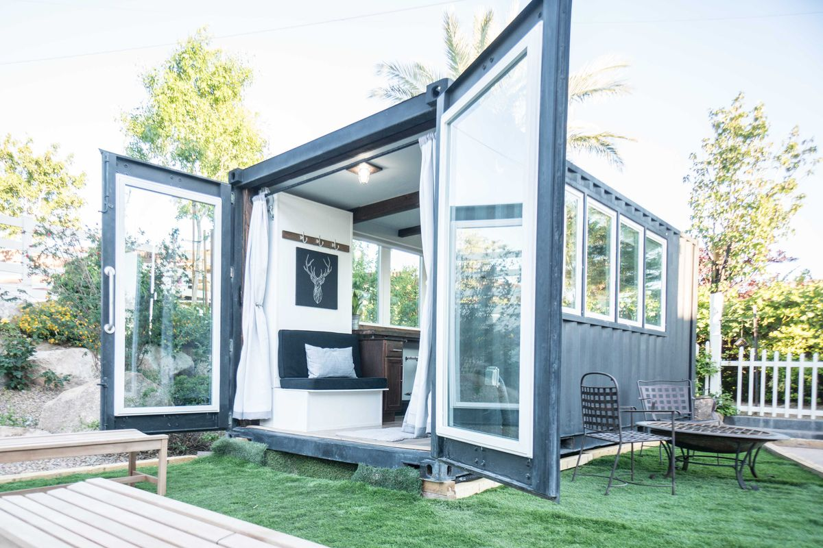 luxury shipping containers less than 50k that put your apartment to shame. Black Bedroom Furniture Sets. Home Design Ideas