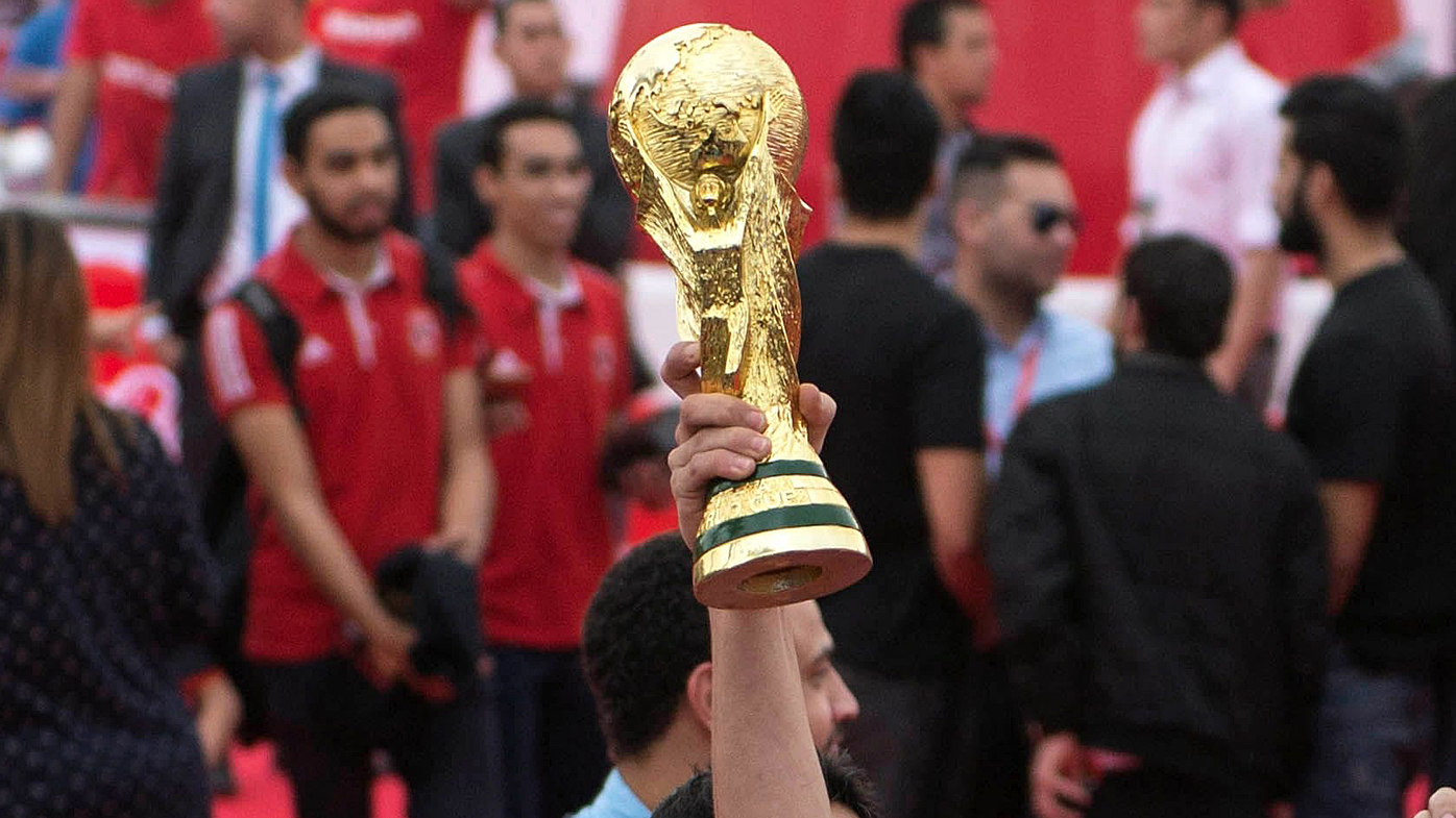 FIFA soccer World Cup trophy