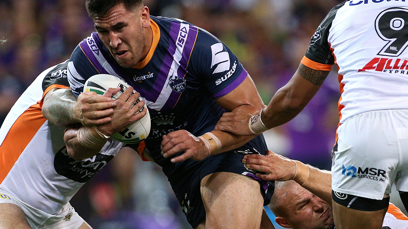 Storm player tackled