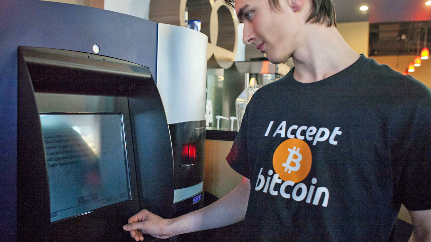 Man uses Bitcoin ATM