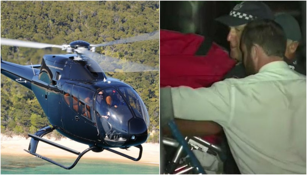 Brave onlookers plucked tourists from downed helicopter